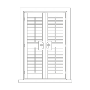 french door shutter by Tailormade Shutters