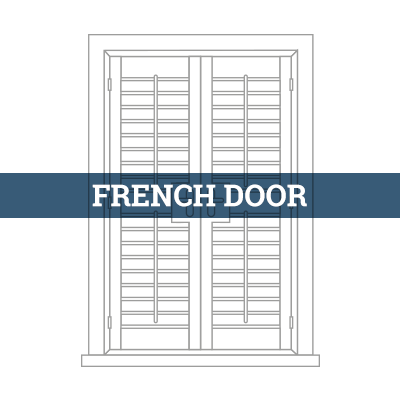 tailor-made french door shutter
