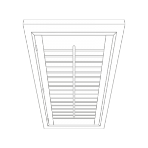 skylight shutter by Tailormade Shutters