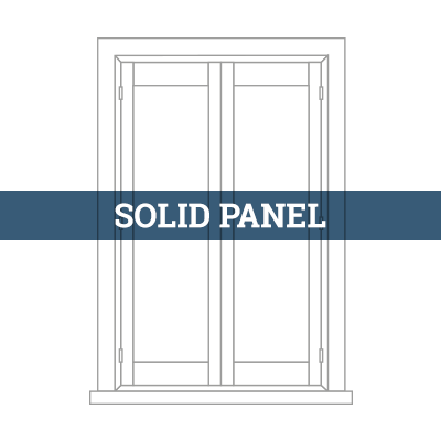 tailormade solid panel shutter