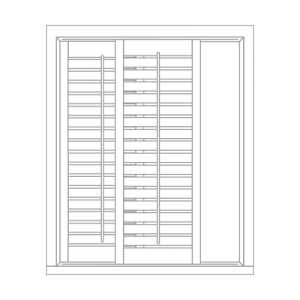 track shutter by Tailormade Shutters