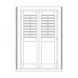 wardrobe shutter by Tailormade Shutters